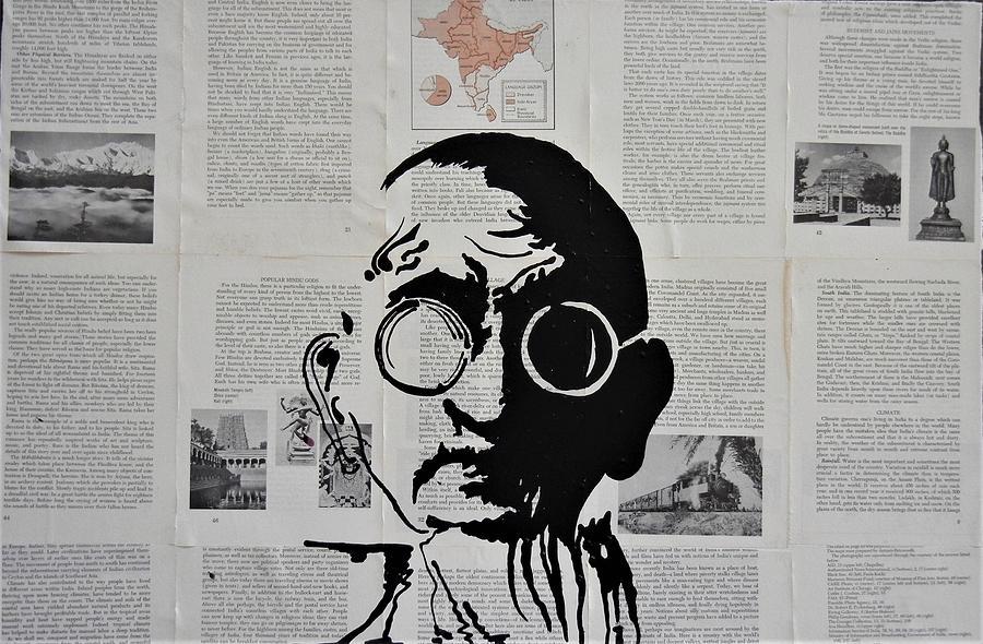 Gandhi Mixed Media