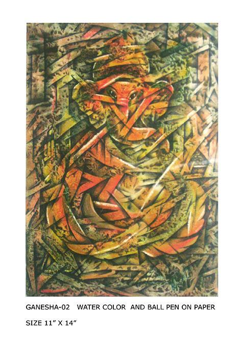 Ganesha Painting - Ganesha-02 by Vikram Kumar