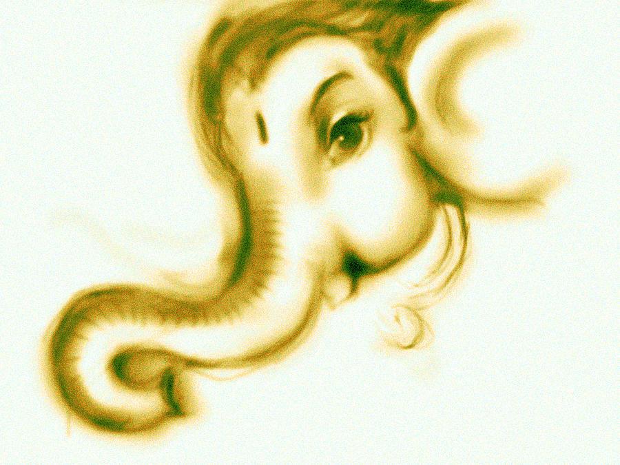 Illustation Digital Art - Ganesha by Dipak Pawar
