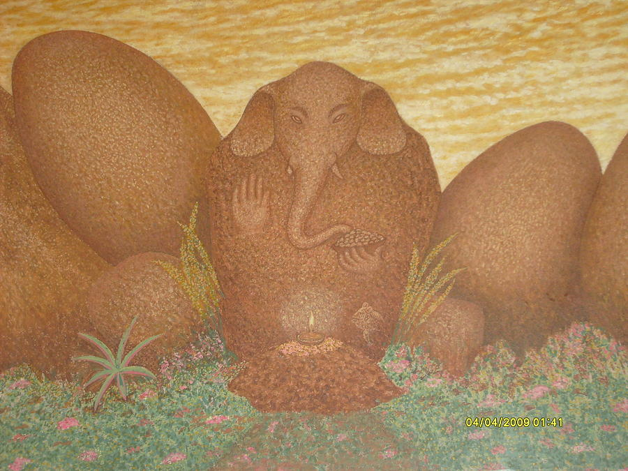 Bushes Painting - Ganesha by Neetu Lokesh