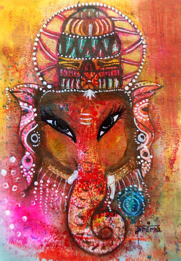 Ganesh Mixed Media - Ganesha by Prerna Poojara