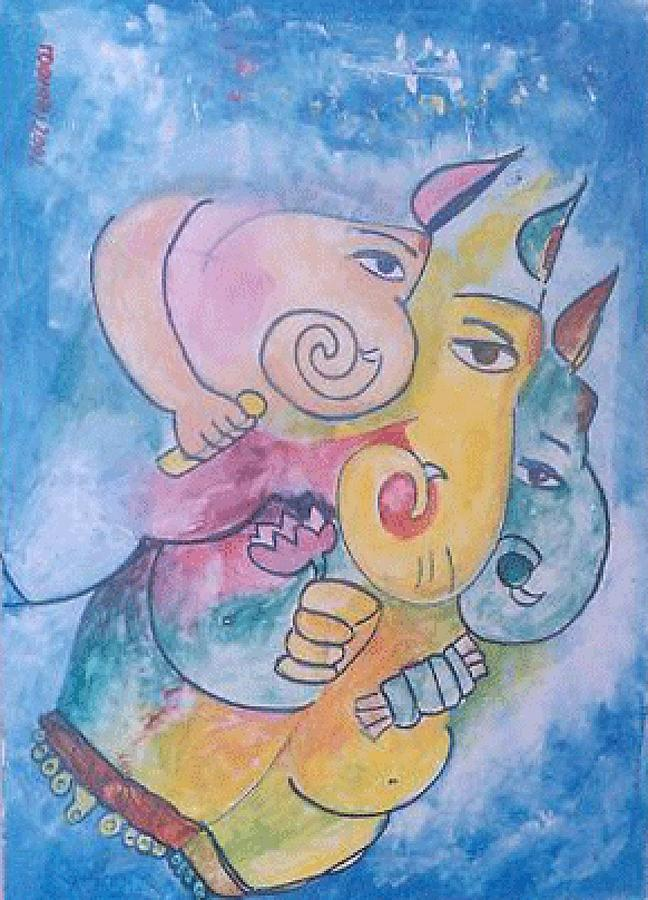 Painting Painting - Ganesha by Rooma Mehra