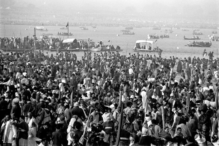 Travel Photograph - Ganges - Kumbh Mela  by John Battaglino