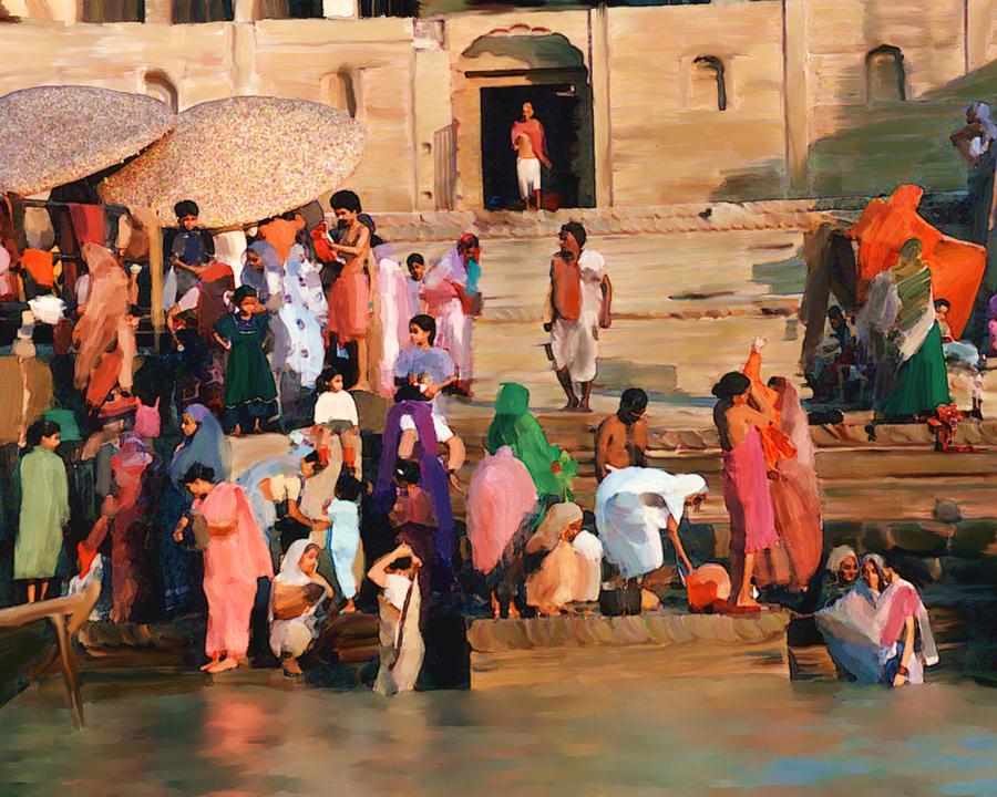 Ganges River Photograph - Ganges by Kurt Van Wagner