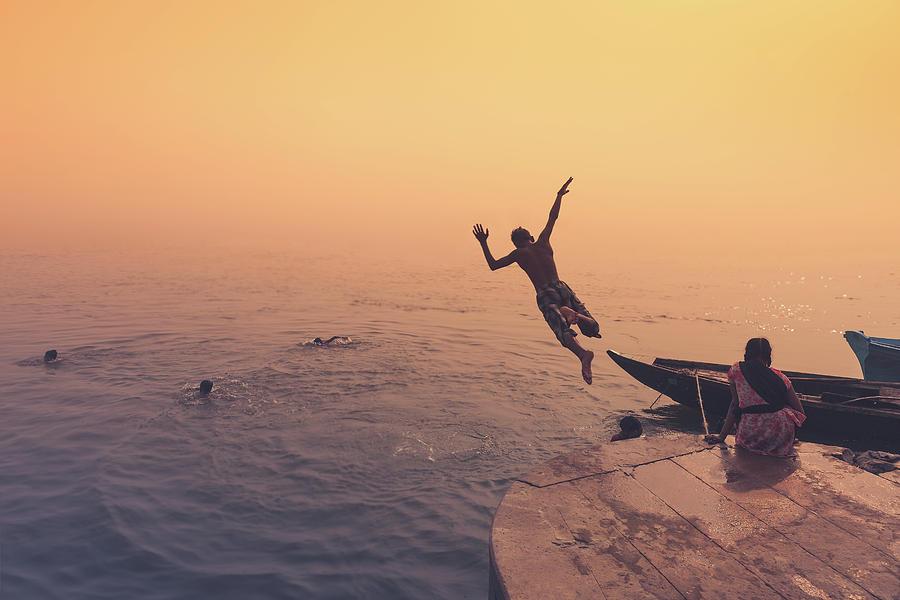 Benares Photograph - Ganges  by Marji Lang