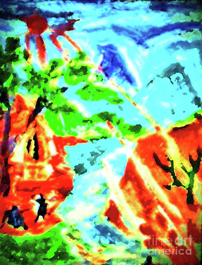 Landscape Painting - Gangotree by Ayyappadas-KCME