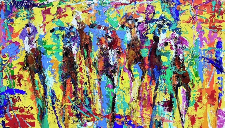 Abstract Painting - Gangs All Here by Heather Roddy