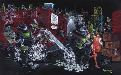 Strawberry Painting - Gangster Chopper by Michael Godard
