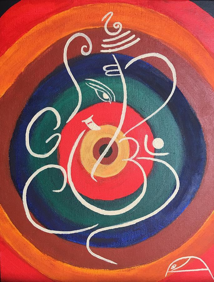 ganpati bappa painting by chandini das