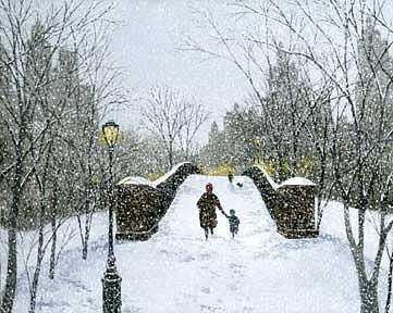 Nyc Painting - Gapstow Bridge Central Park Circa 1911 by Patrick Antonelle