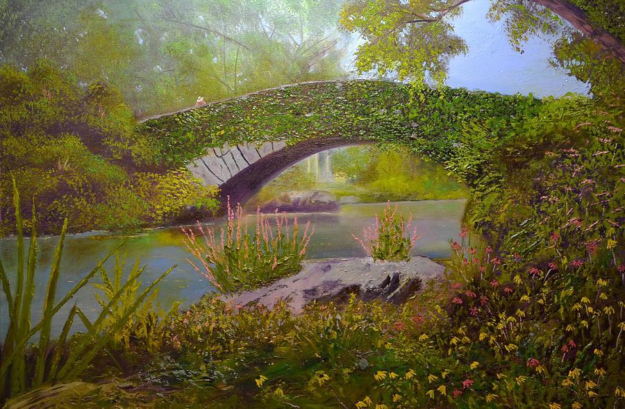 Gapstow Bridge Central Park Painting