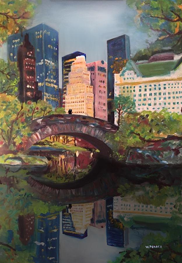 Oil On Canvas Digital Art - Gapstow Bridge Central Park Nyc by Wayne Pearce