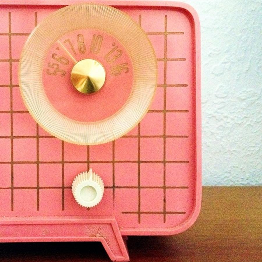 Retro Photograph - Garage Sale Find...a 60s Pink Radio! by Blenda Studio