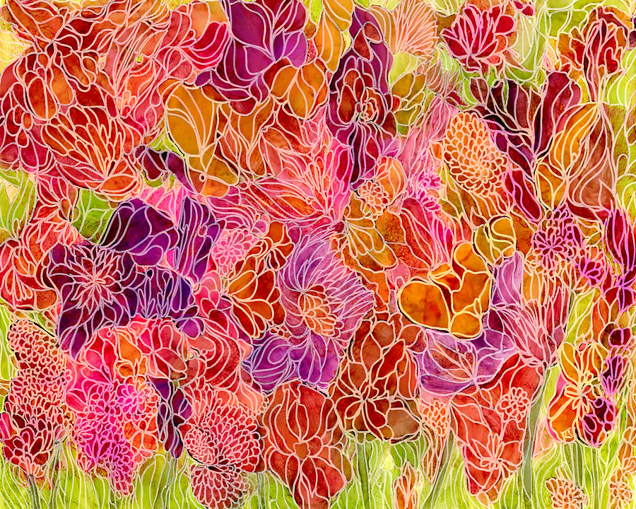 Beauty Painting - Garden 5 by Katie Ree