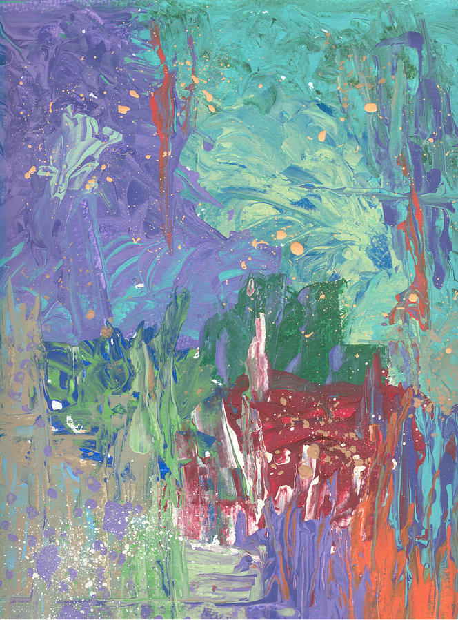 Abstract Painting - Garden Abstract No. 2 by Helene Henderson