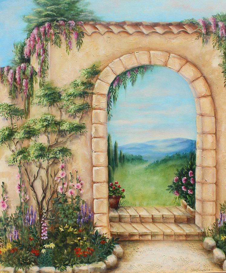 Garden Arch Painting By Rita Broughton