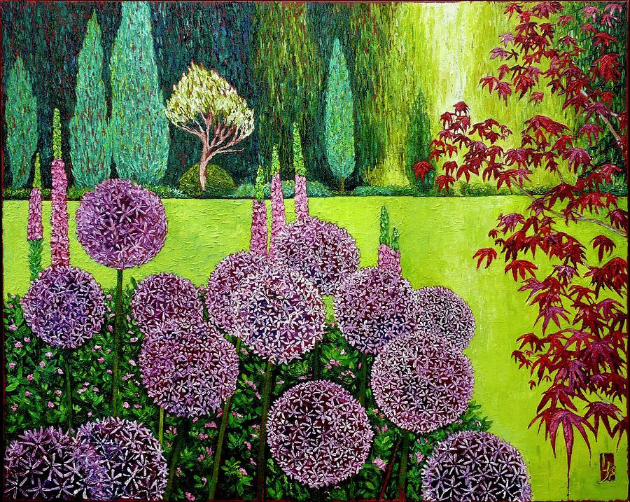 Garden at Cecil Green Park House by Linda J Bean
