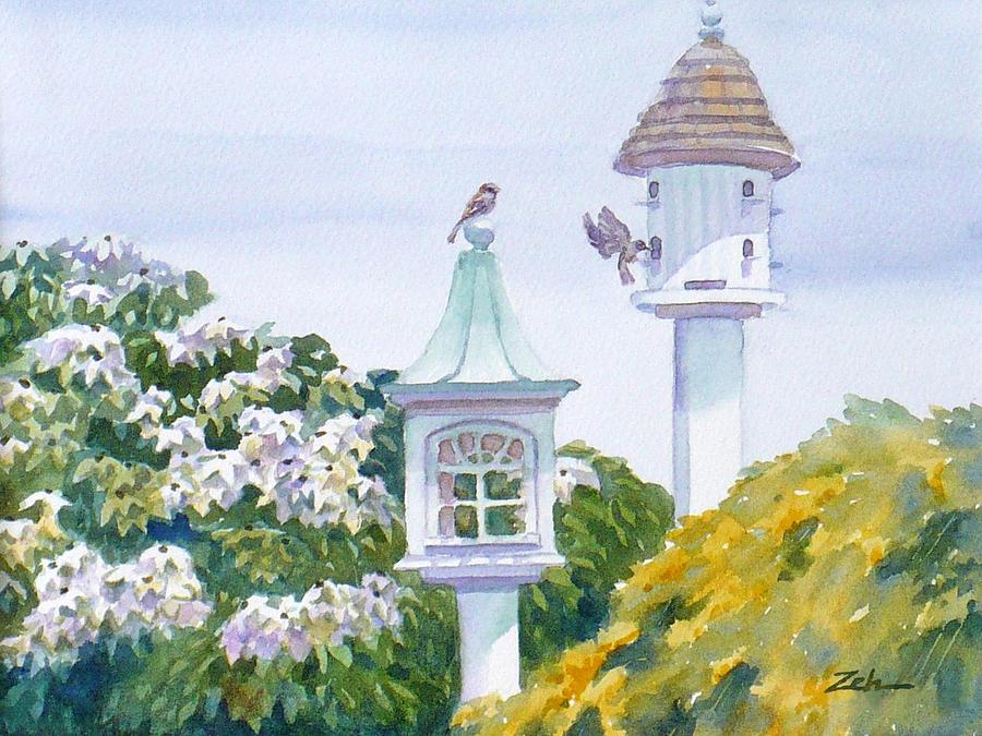 Garden Birdhouses by Janet Zeh