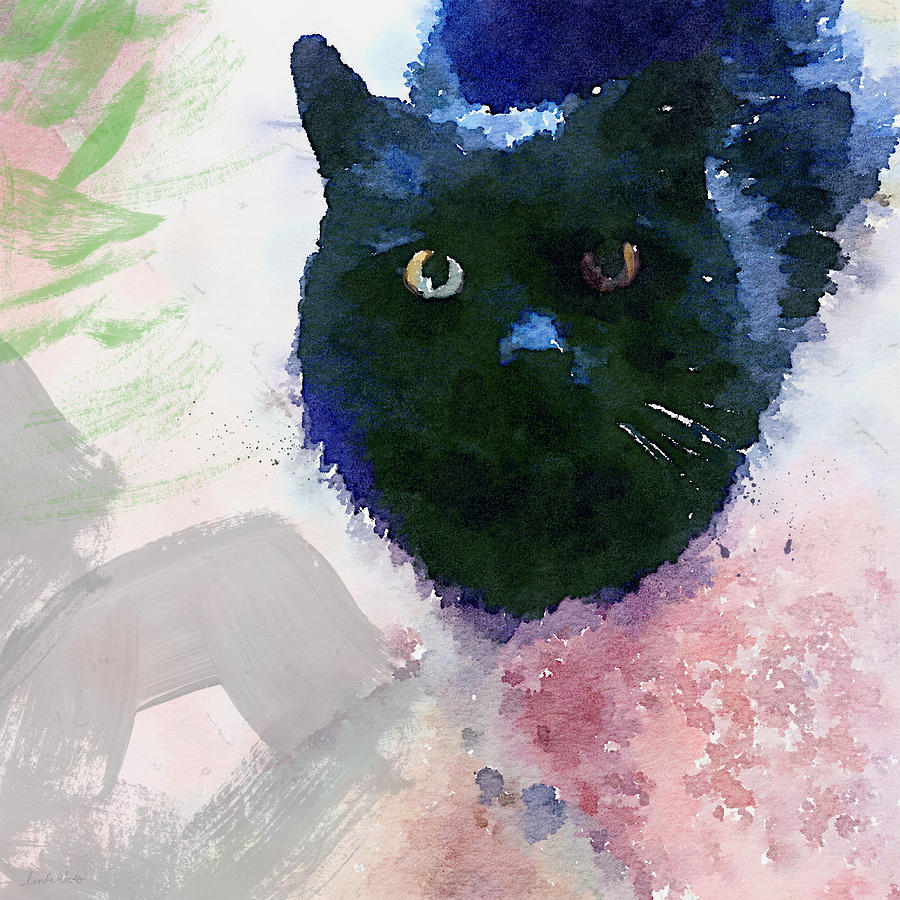 Kitty Painting - Garden Cat- Art By Linda Woods by Linda Woods