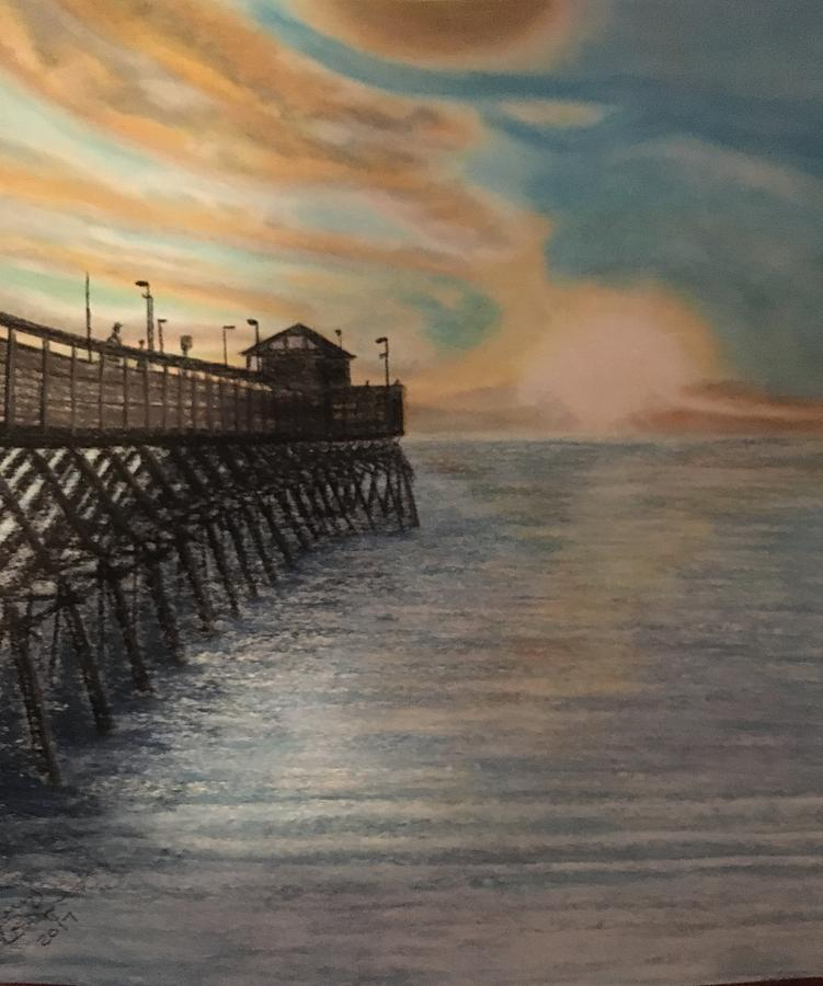 Seascape Pastel   Garden City South Carolina By Jerry Bigness