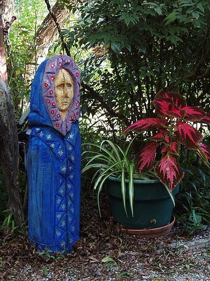 Garden Crone Sculpture by Christina White