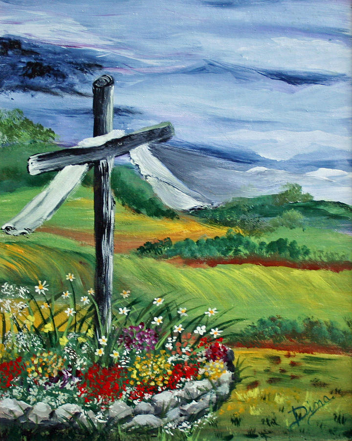 Painting Painting - Garden Cross by Dina Jacobs