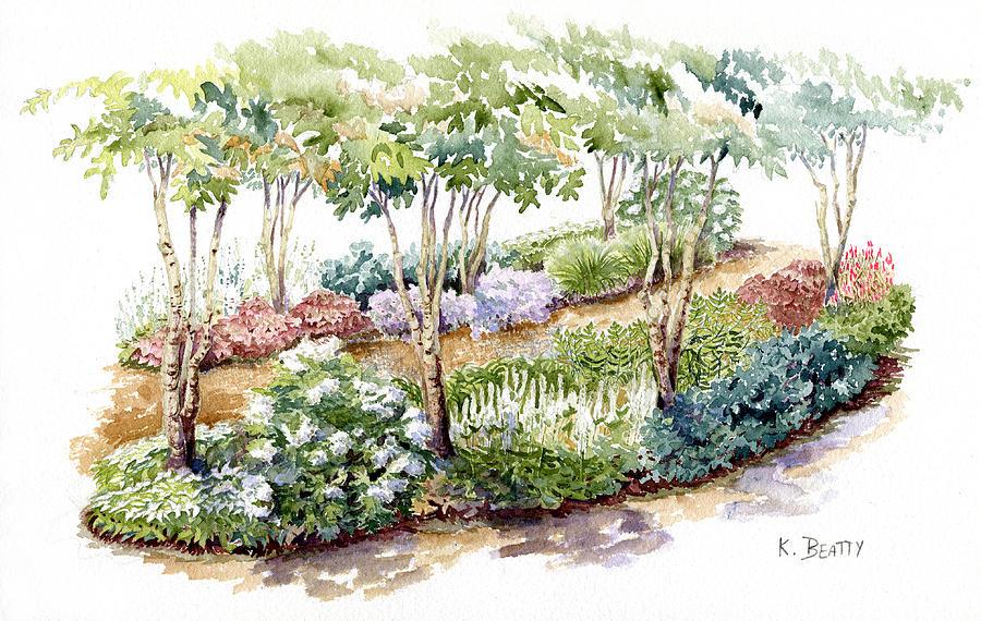 Garden Painting - Garden, Dark Side by Karla Beatty
