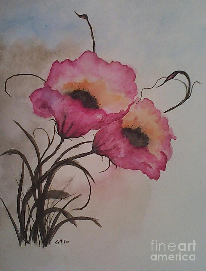 Pink Flowers Painting - Garden Delight by Ginny Youngblood