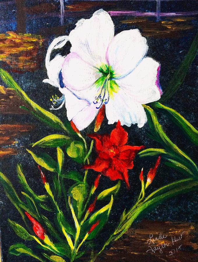 Flowers Painting - Garden Delight by Linda Taylor-Hurt