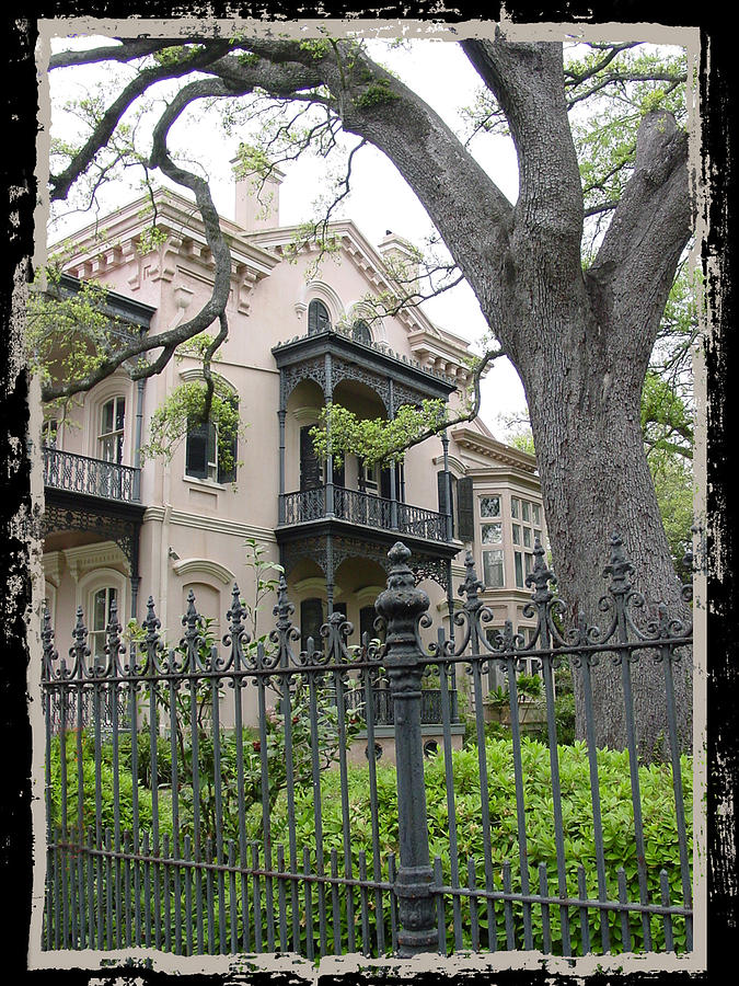 New Orleans Photograph - Garden District House by Linda Kish