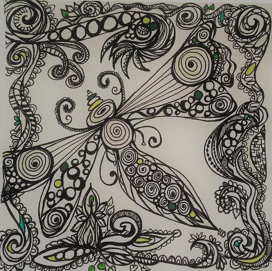 Garden Dreams  Drawing by Jan Pellizzer