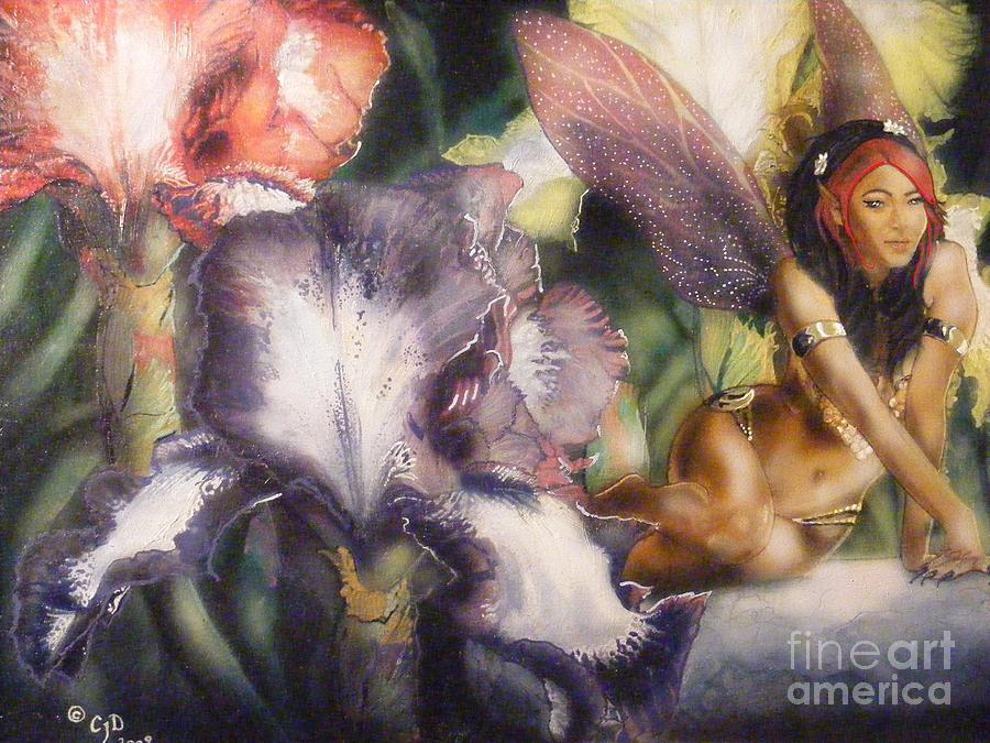 Fairy Painting - Garden Faerie by Crispin  Delgado