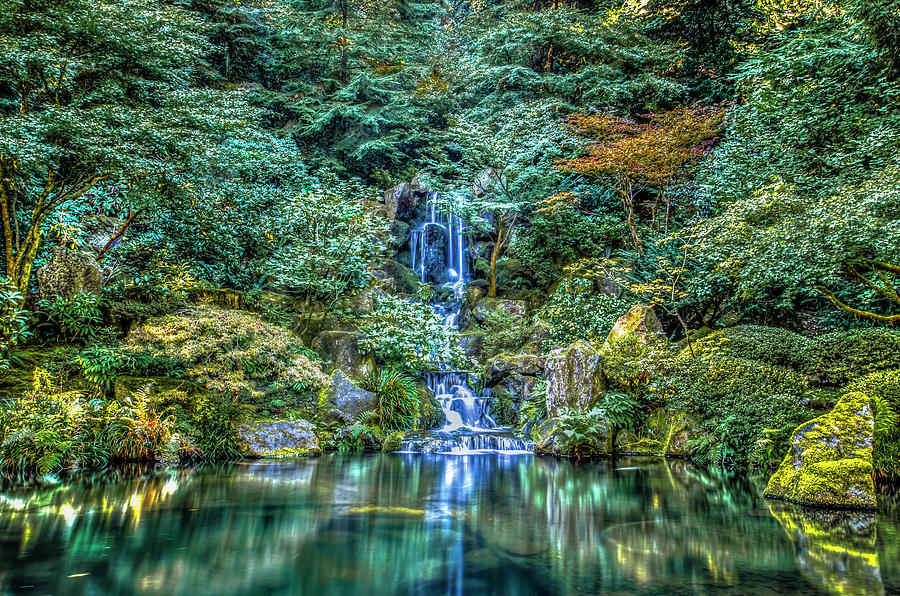 Waterfall Photograph - Garden Falls by Mark Dunton
