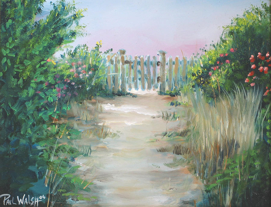 Garden Painting - Garden Fence by Paul Walsh
