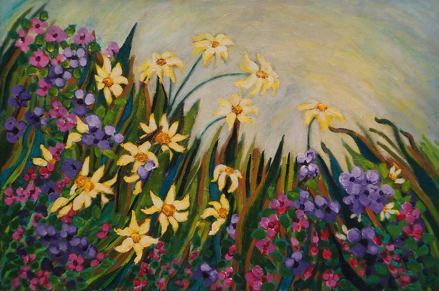 Landscape Painting - Garden by Fran Steinmark
