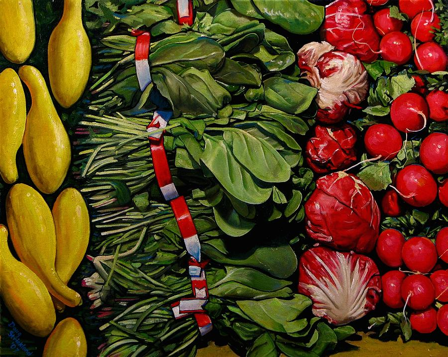 Food Painting - Garden Fresh by Doug Strickland