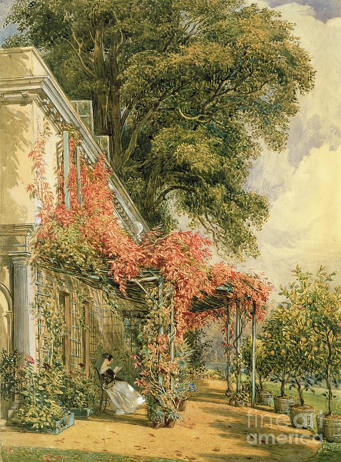 Garden Painting - Garden Front Of Mr Robert Vernons House At Twickenham by John James Chalon