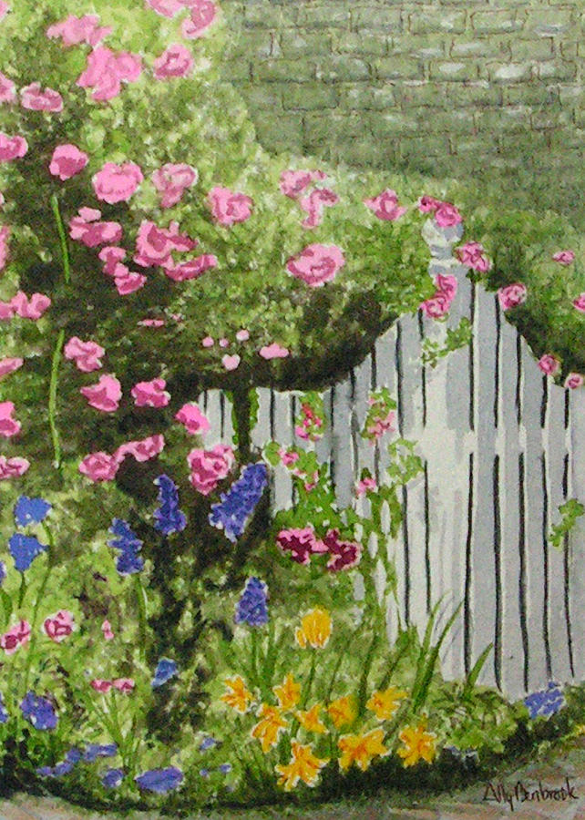 Garden Painting - Garden Gate by Ally Benbrook