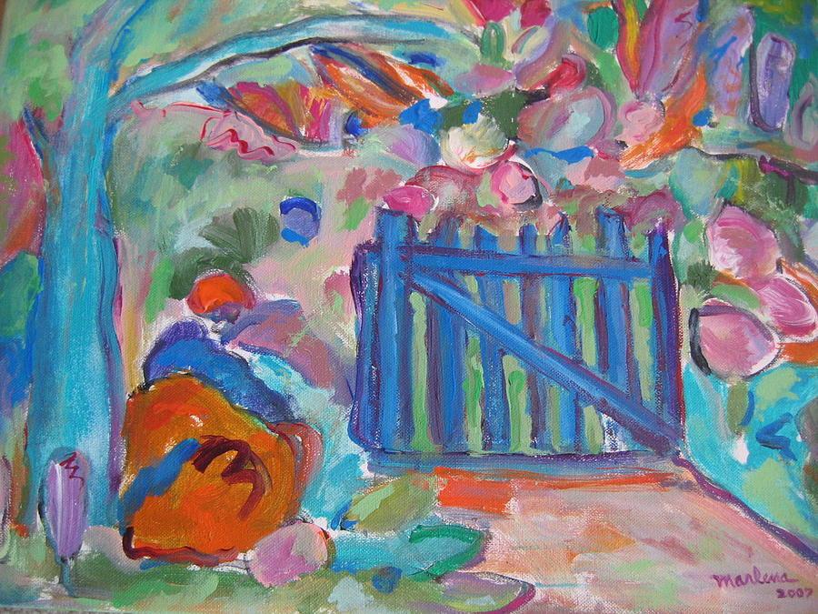 Garden Painting - Garden Gate by Marlene Robbins