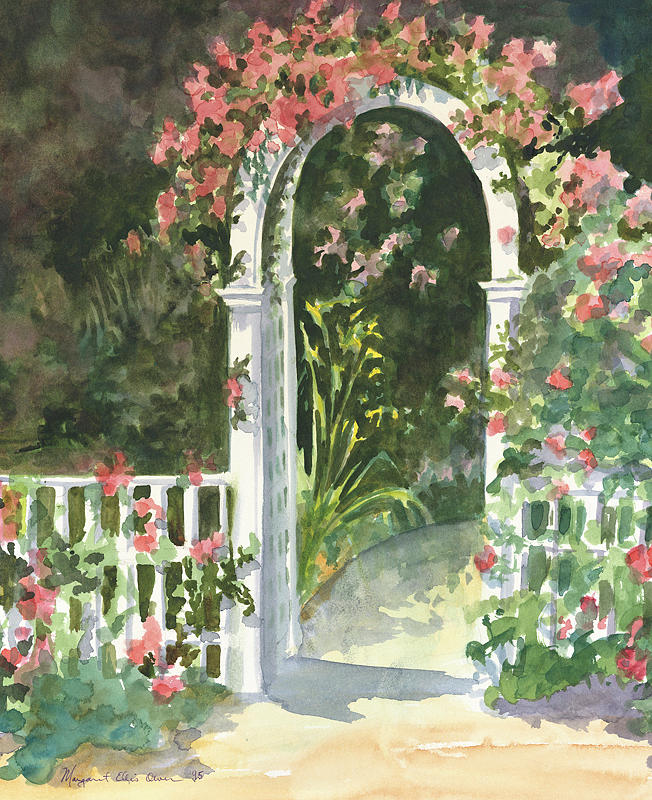 Garden Gate Painting By Peggy Ellis