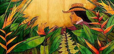 Garden Girl Print by Kealoha  Pa