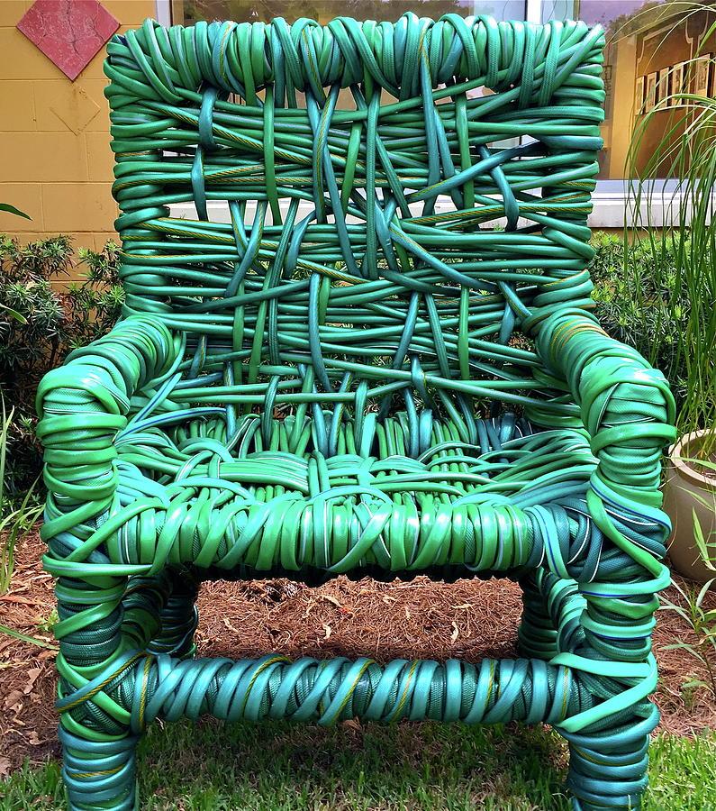 Garden Hose Photograph - Garden Hose Chair by Denise Mazzocco