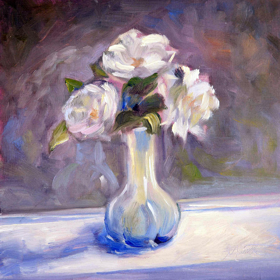 Rose Painting - Garden Icebergs by Athena  Mantle