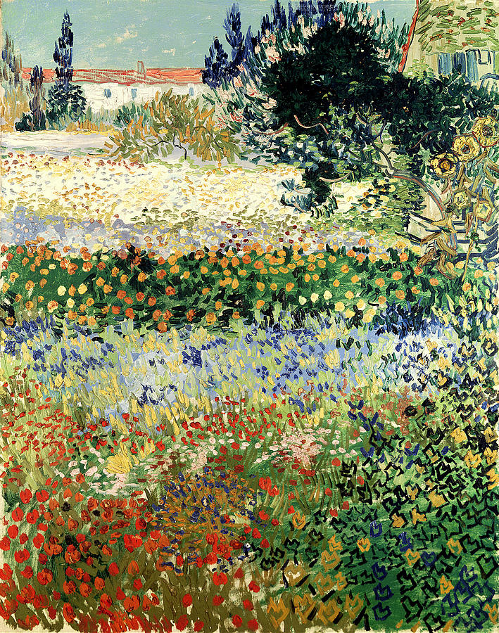 Arles Painting - Garden In Bloom by Van Gogh