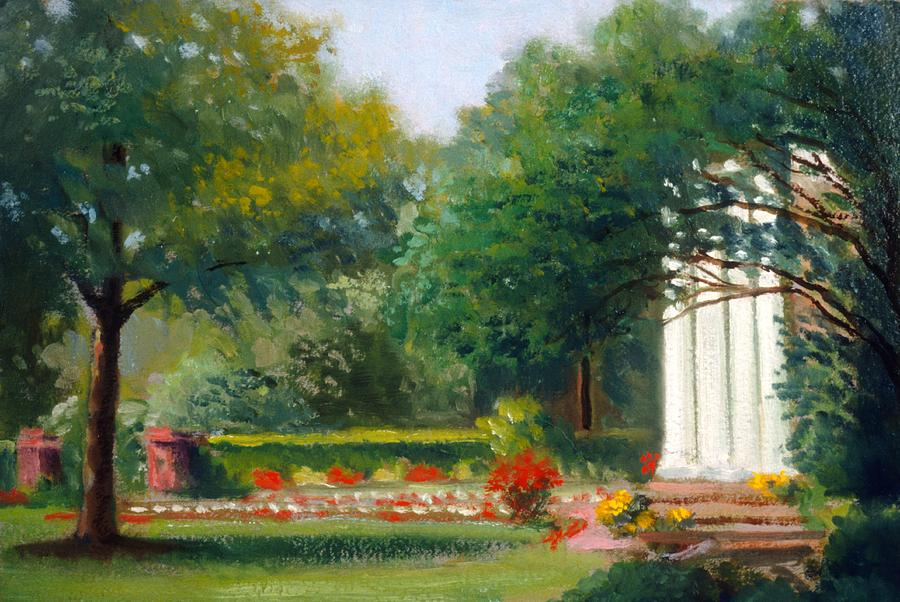 Garden In Nj Impression Painting by David Olander