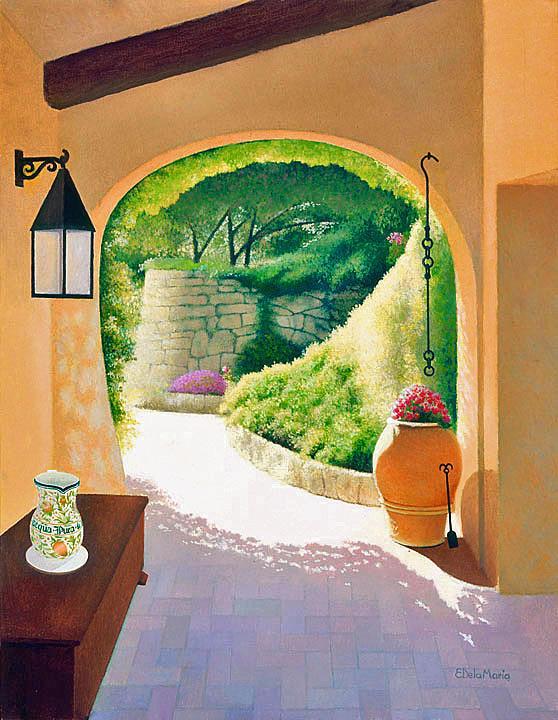 Garden Painting - Garden In Sardinia by Eduardo De La Maria