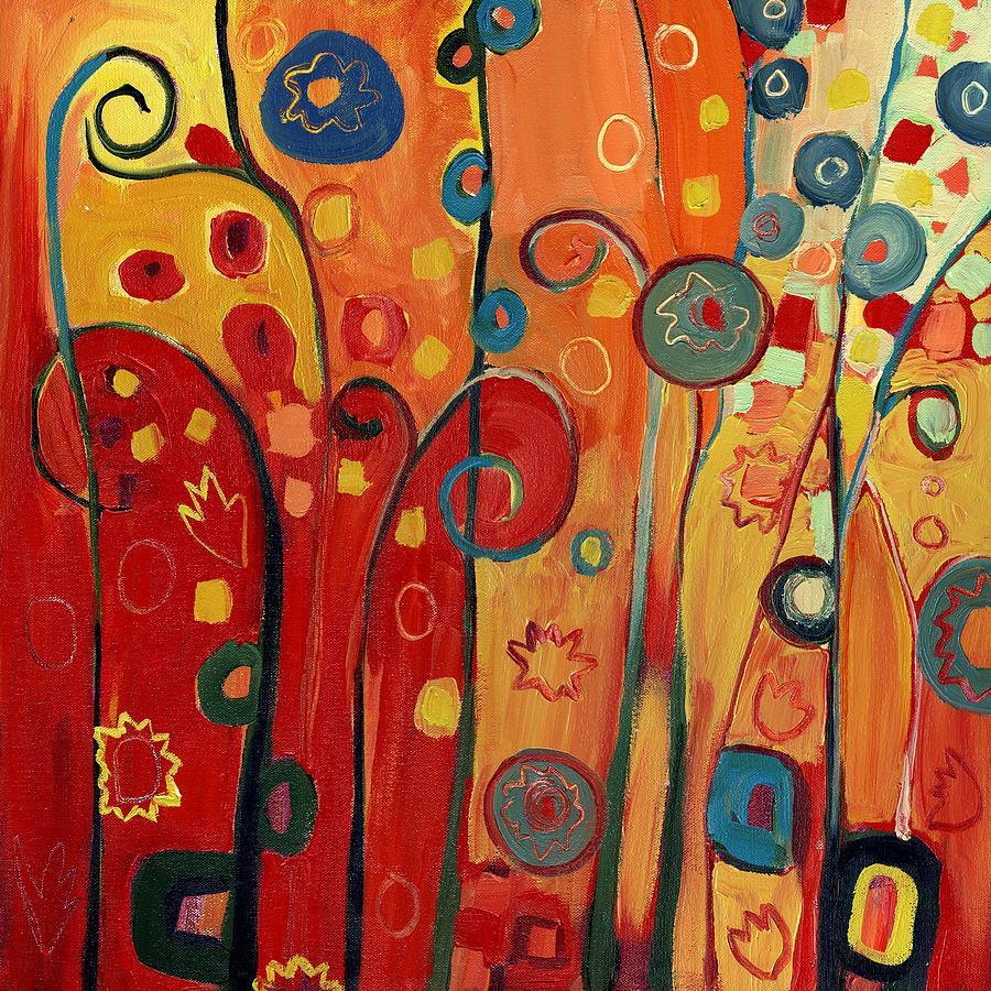 Garden Joy In Red Painting