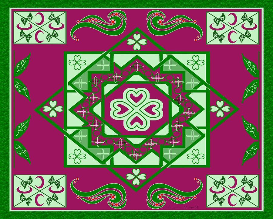 Celtic Knot Painting - Garden Loch Celtic Knot by Mike Sexton