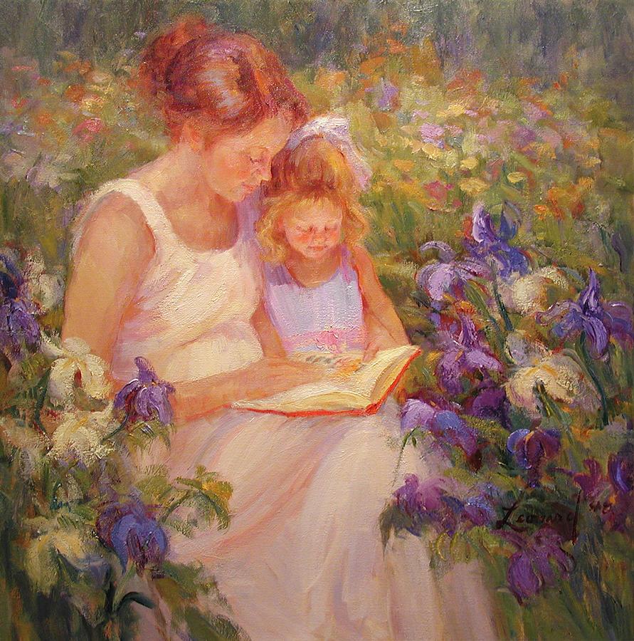 Garden Love Painting by Diane Leonard