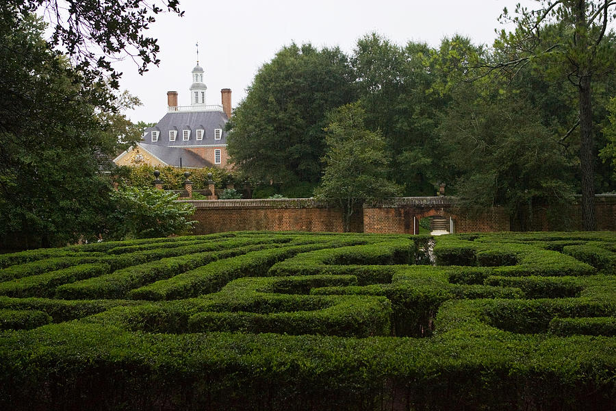 Garden Photograph - Garden Maze At Governors Palace by Mark Currier
